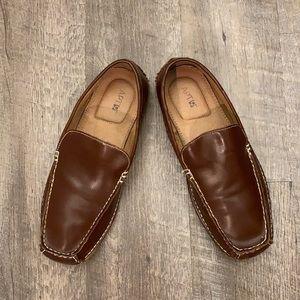 Apt. 9 brown vegan leather driving moccasins 10.5